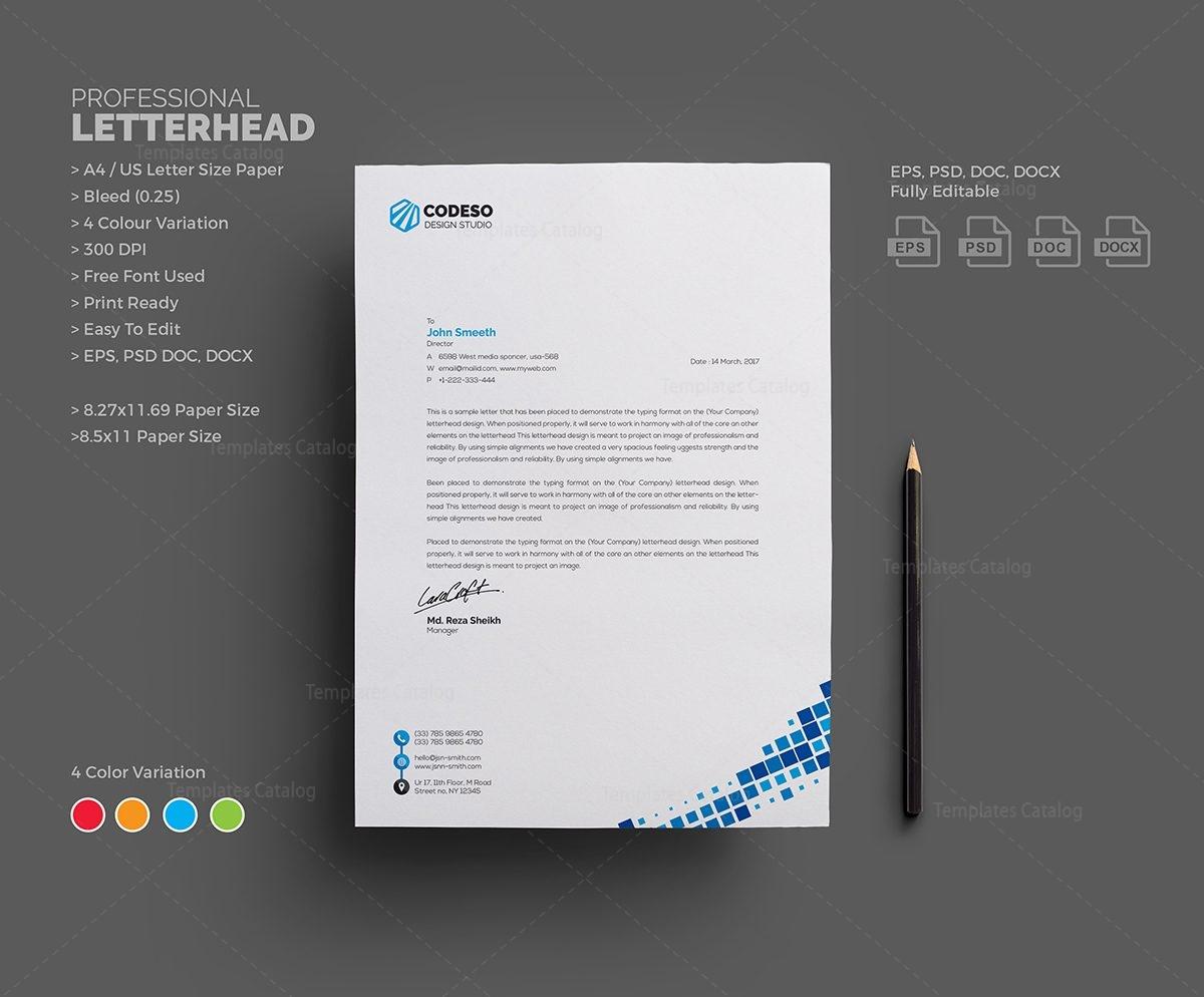 Letterhead Design Template 000546 - Template Catalog