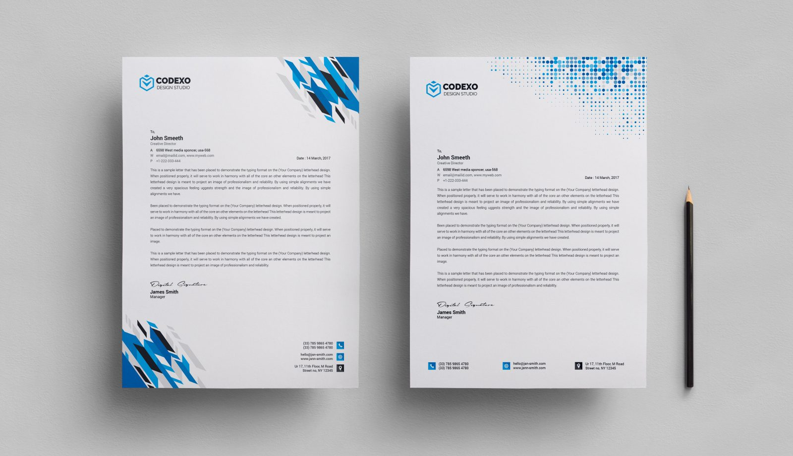 letterhead stationery template 000578