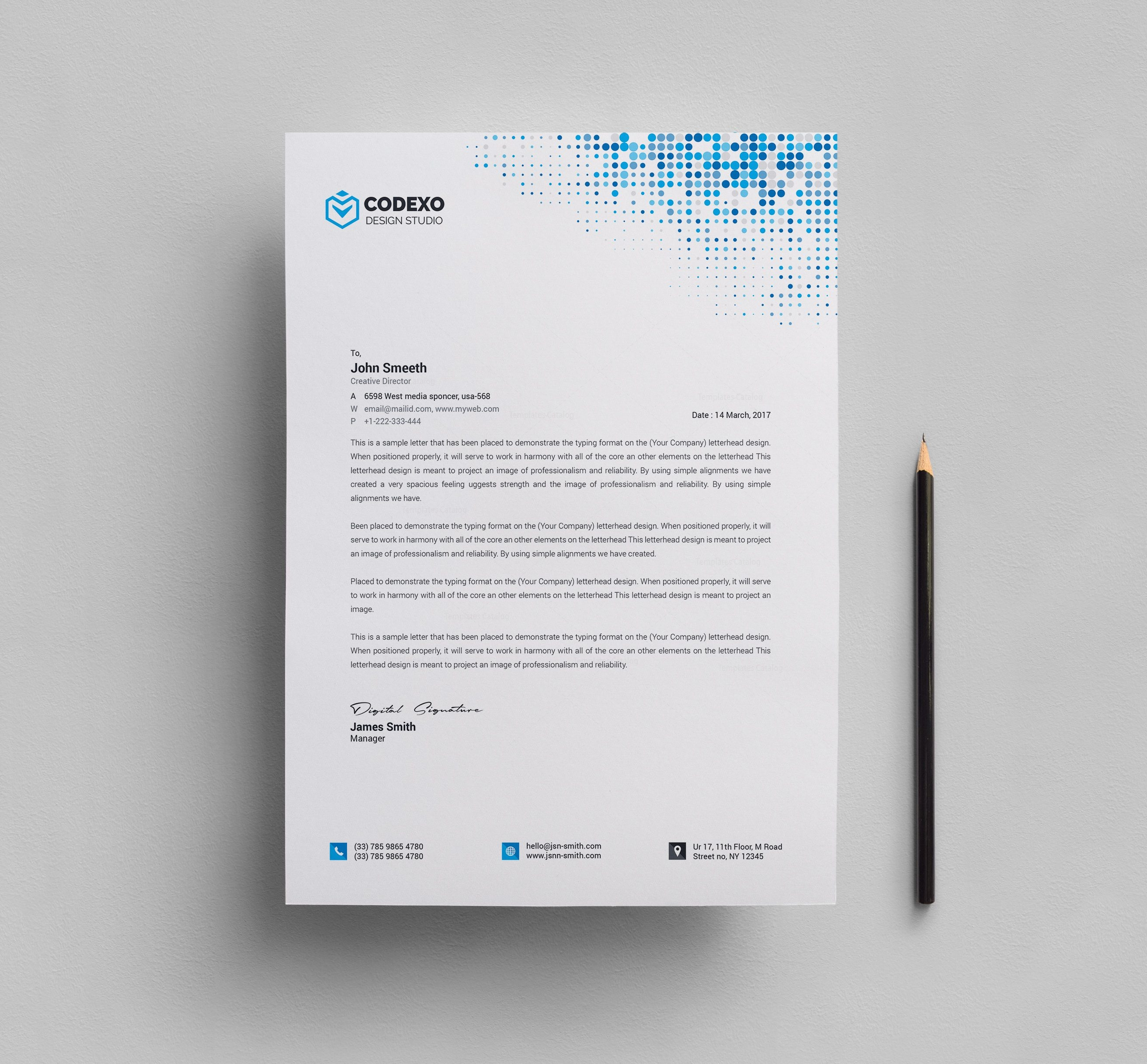 Letterhead Stationery Template 000578 - Template Catalog