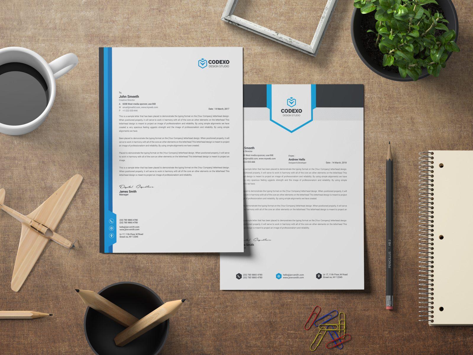 letterhead stationery template bundle 000577