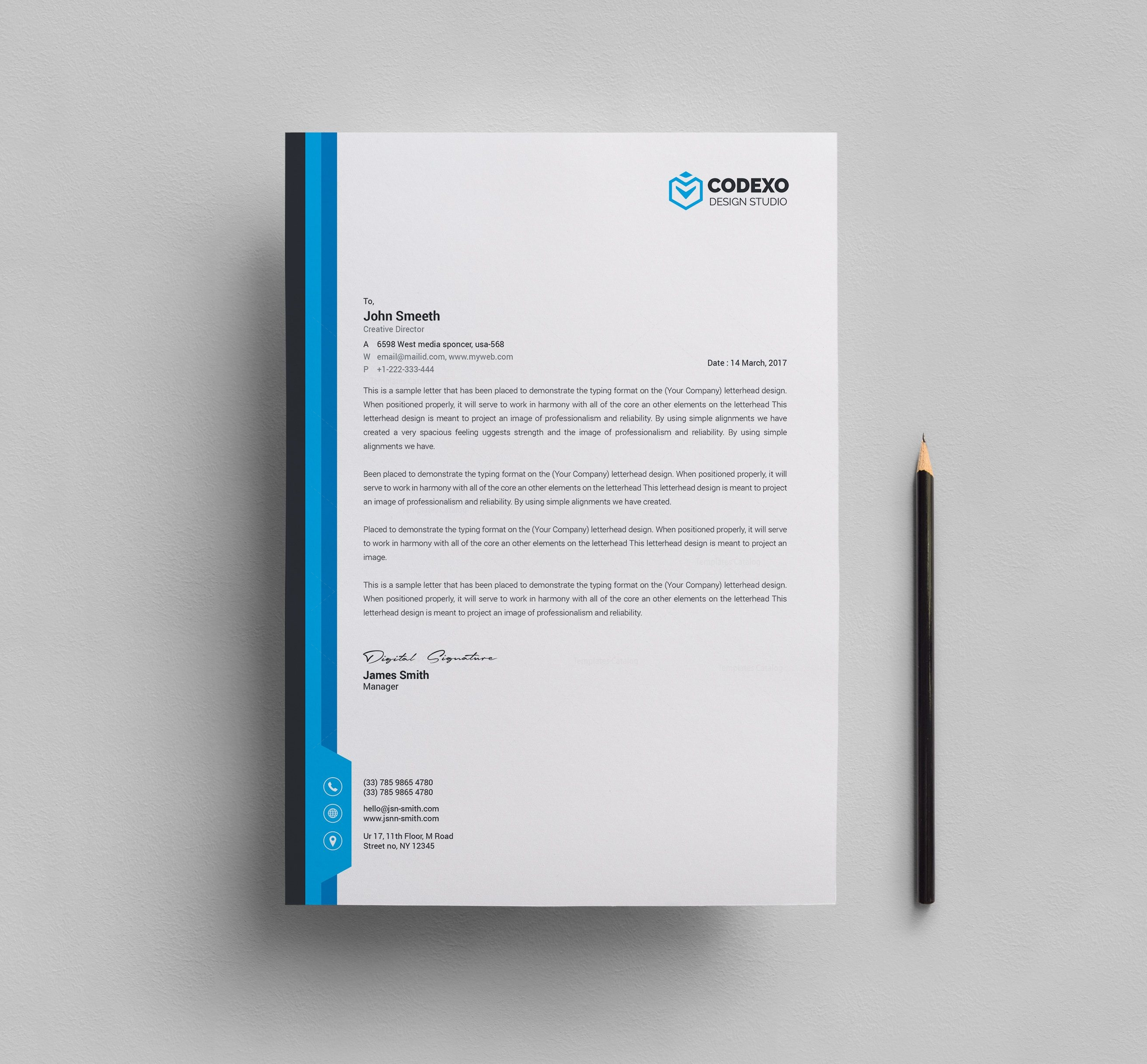 Letterhead Stationery Template Bundle 000577 Template