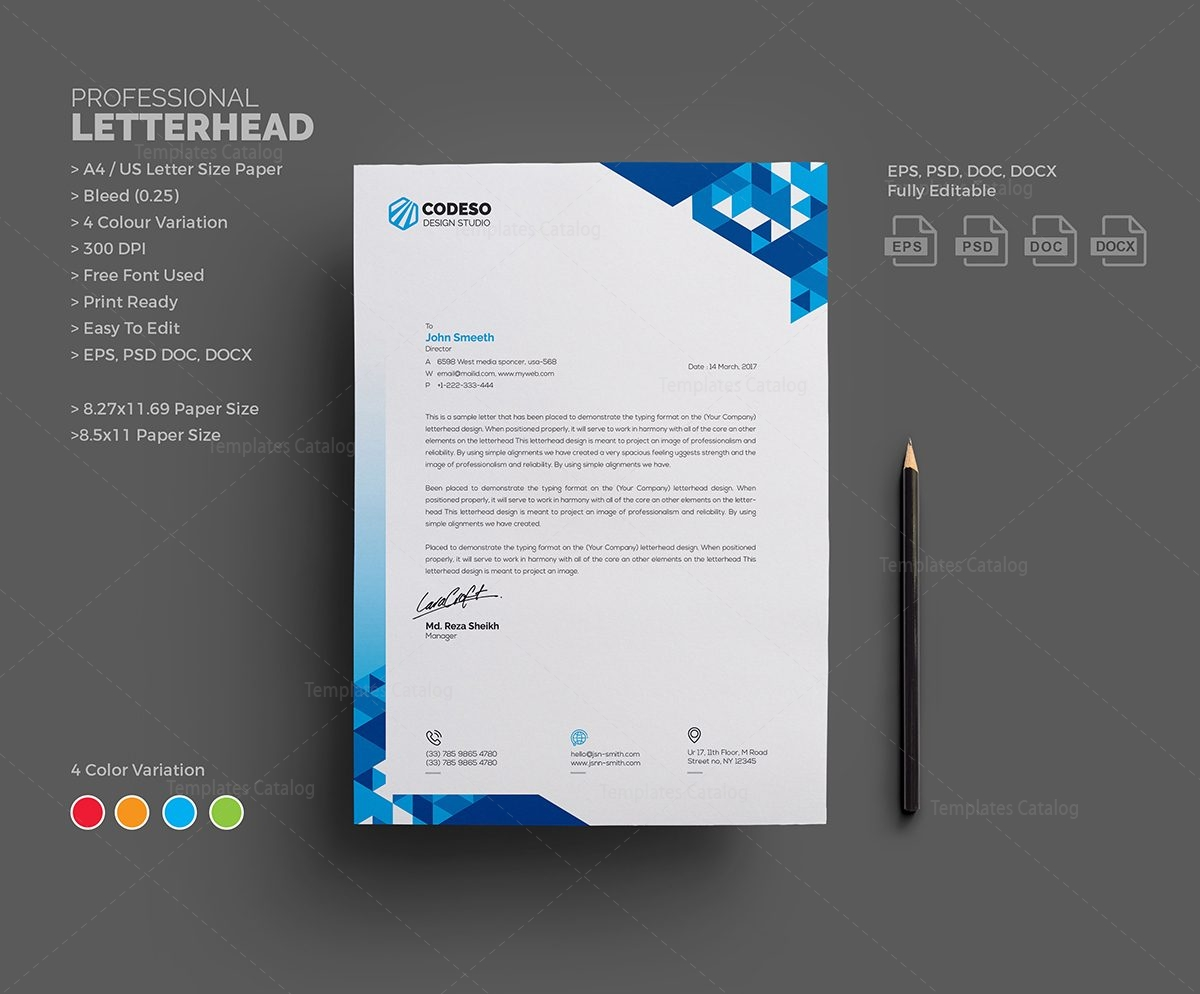 letterhead template design 000548