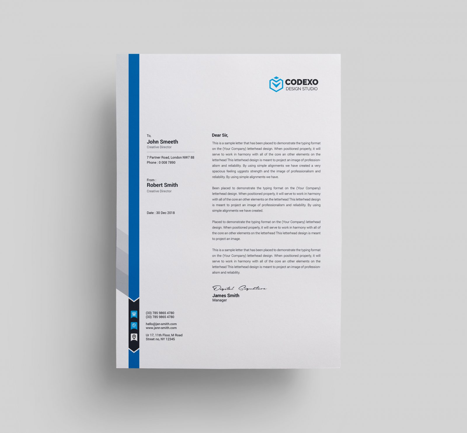 Executive Stationery Letterhead Business Letterhead 8370: Letterhead Templates 000579