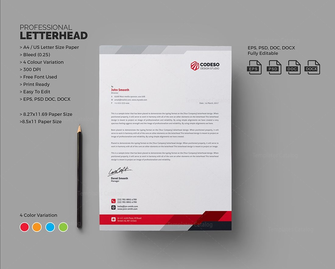 modern business letterhead template 000550 template catalog