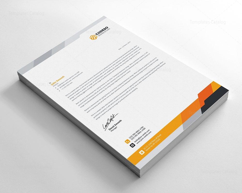 Modern Business Letterhead Template 3