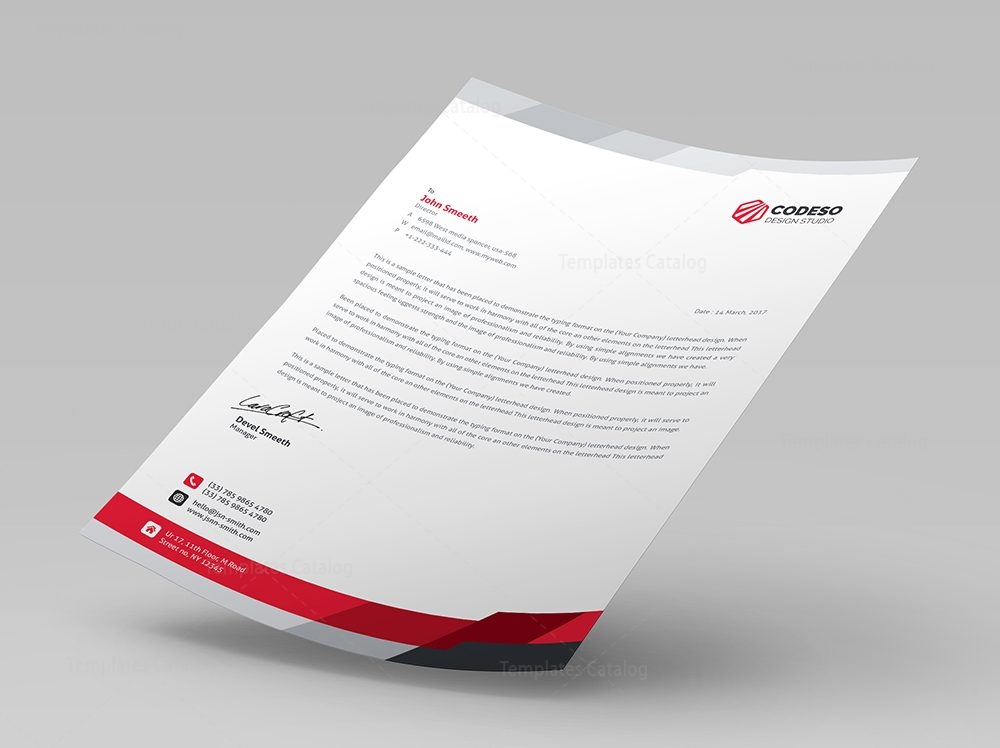 modern business letterhead template 7