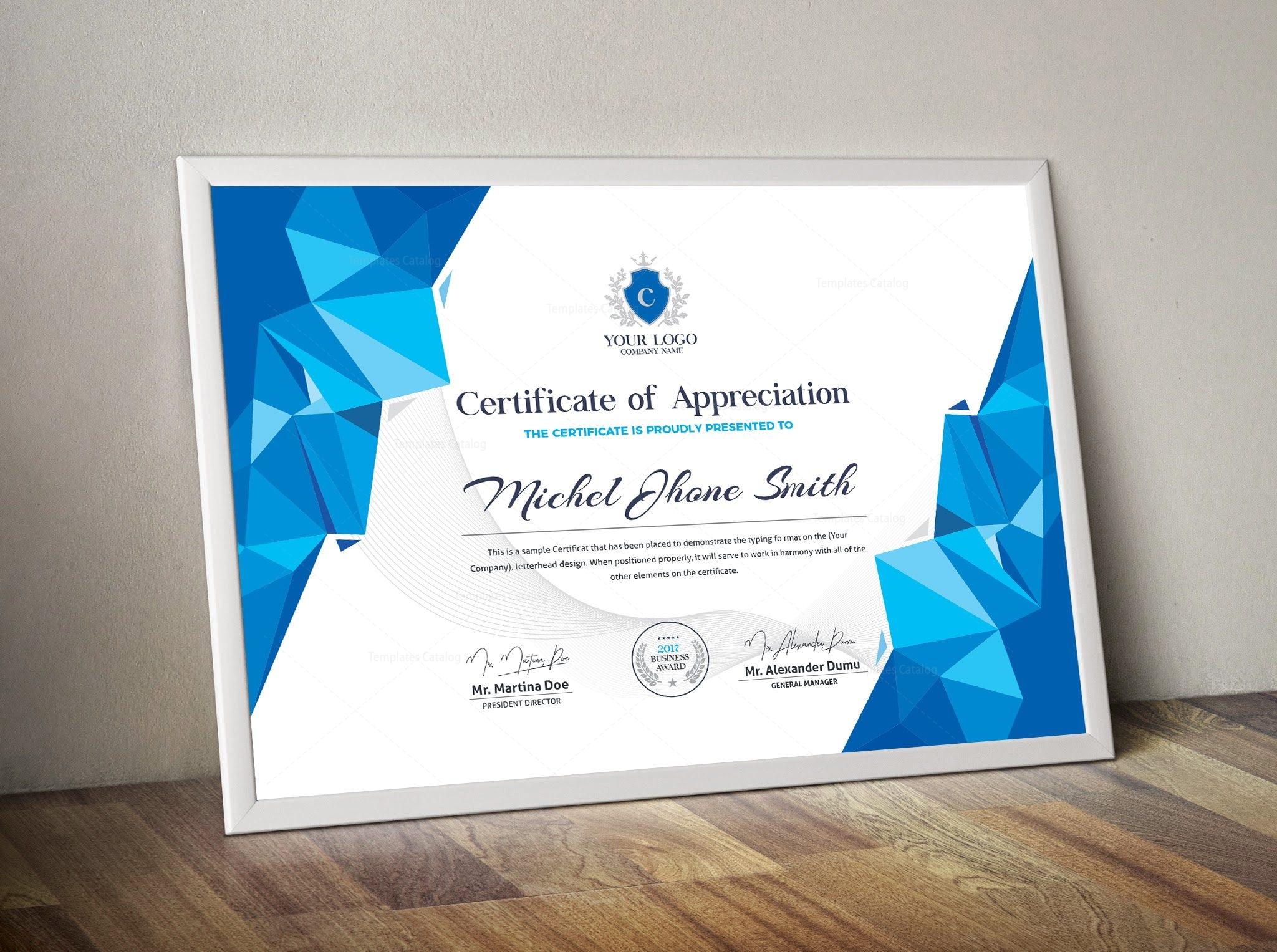 Modern certificate sample 000502 template catalog modern certificate sample 2 alramifo Gallery