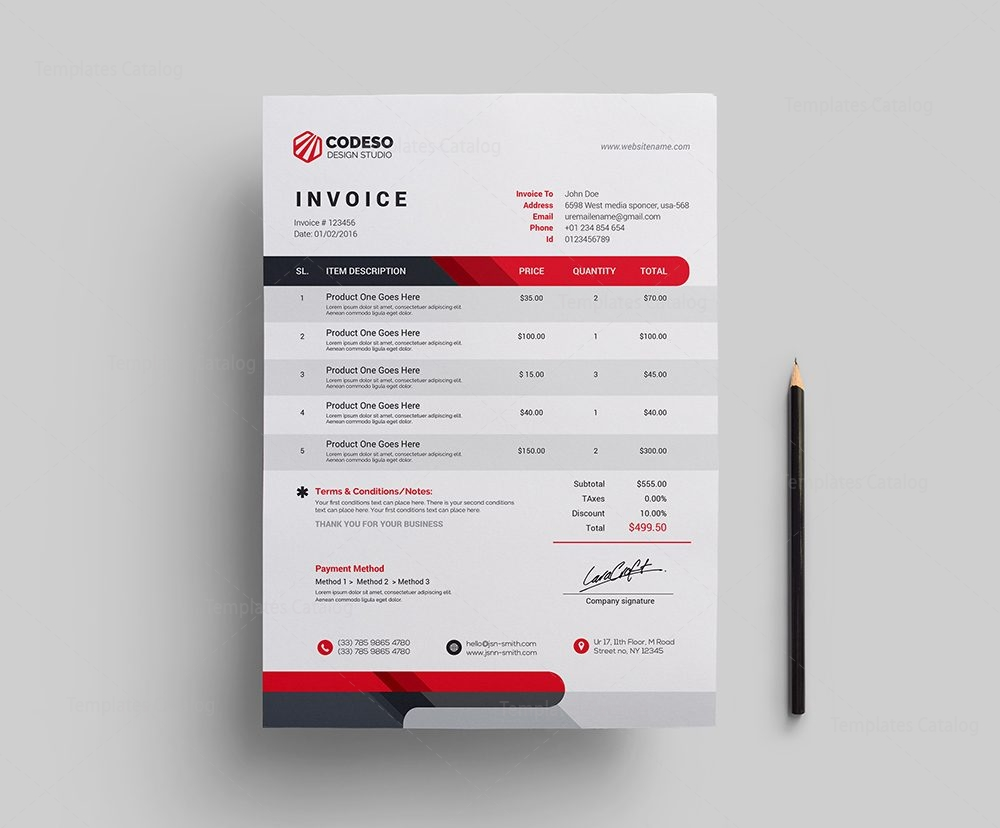 Modern Corporate Invoice Template Template Catalog - Corporate invoice template