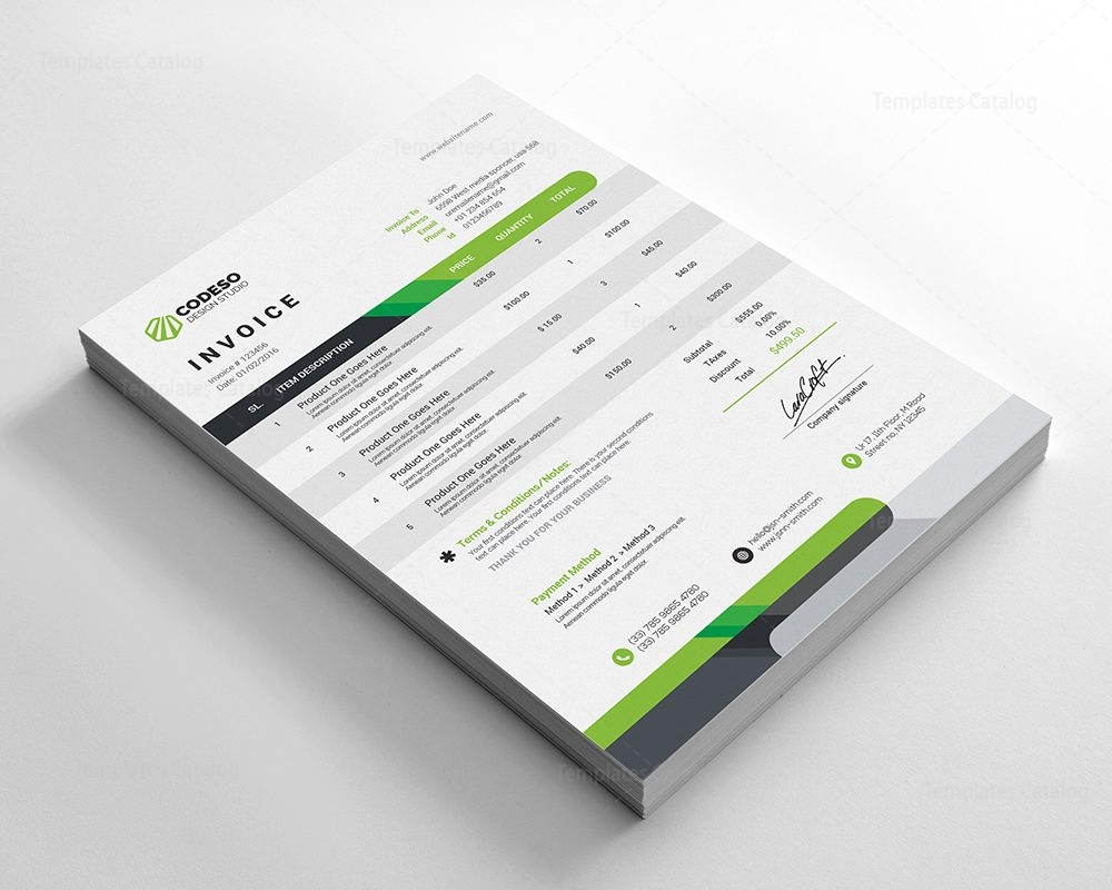 modern corporate invoice template 000535 template catalog