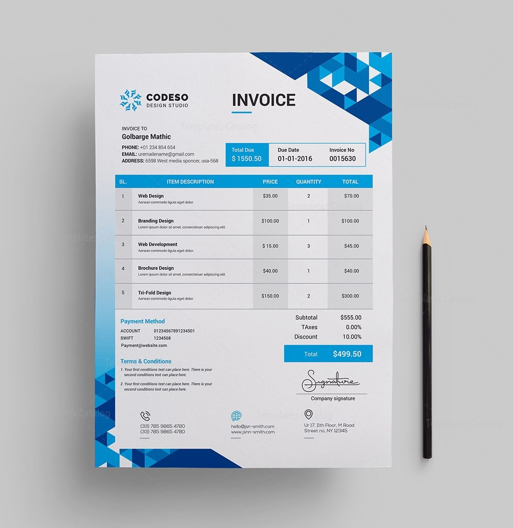 Modern Elegant Invoice Template Template Catalog - Elegant invoice template