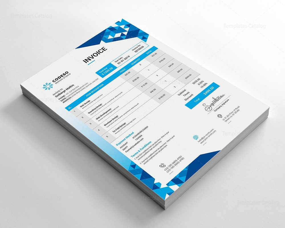 Modern Elegant Invoice Template Template Catalog - Modern invoice template