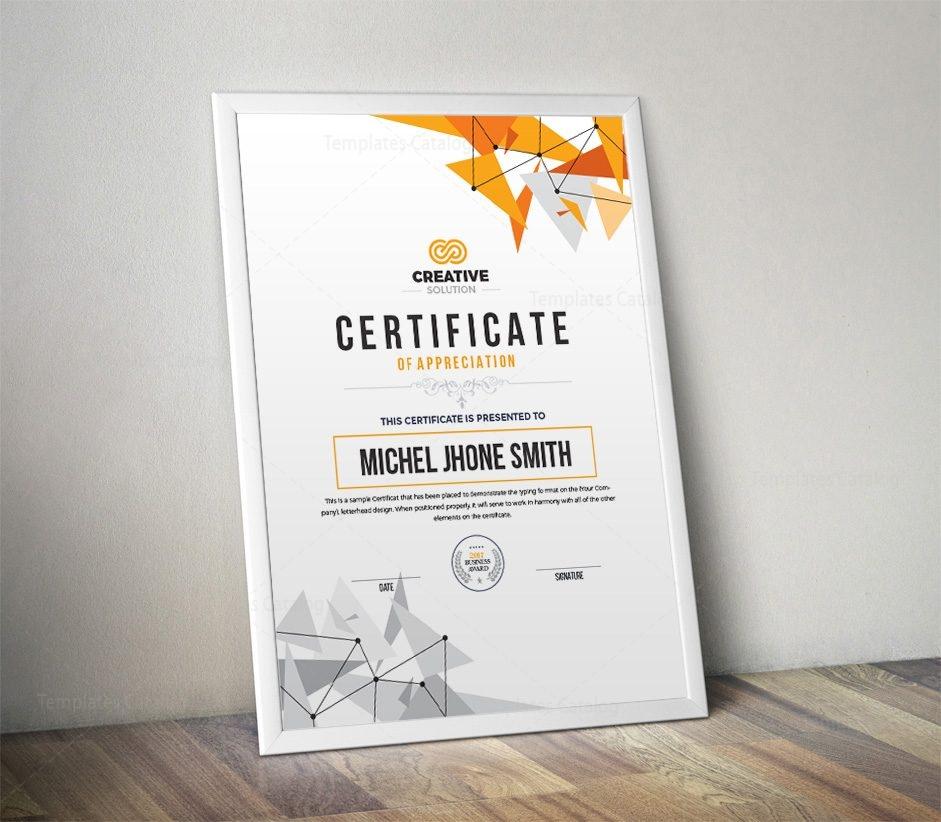modern simple certificate template 000536 template catalog