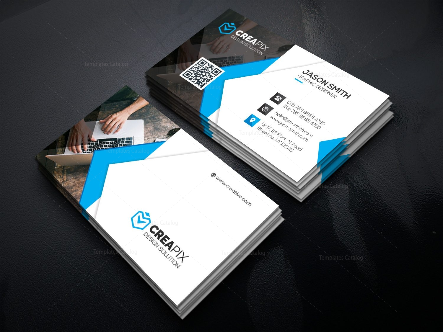 Personal Business Card Template 000480 - Template Catalog