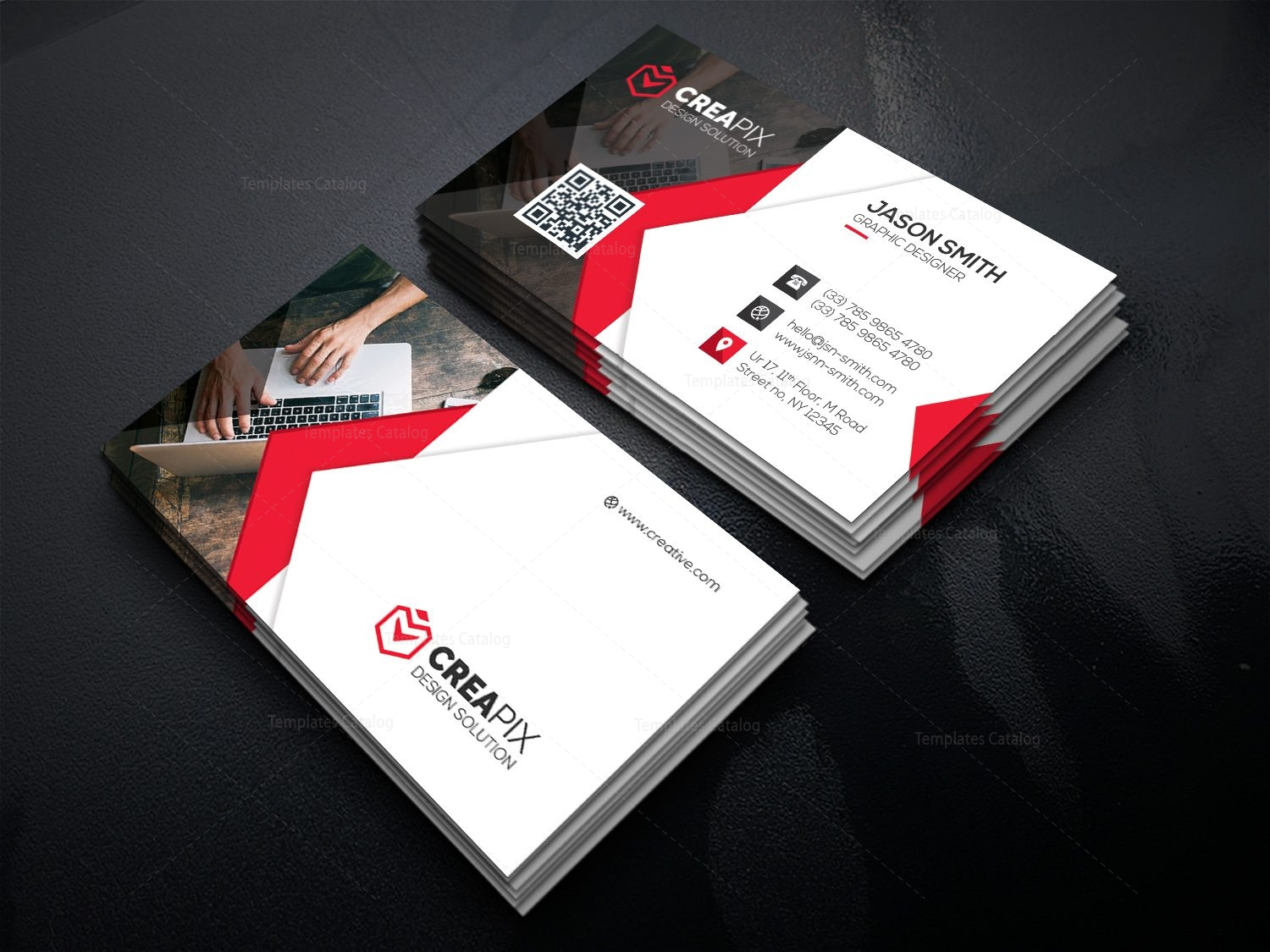 Personal business card template 000480 template catalog personal business card template 4 colourmoves