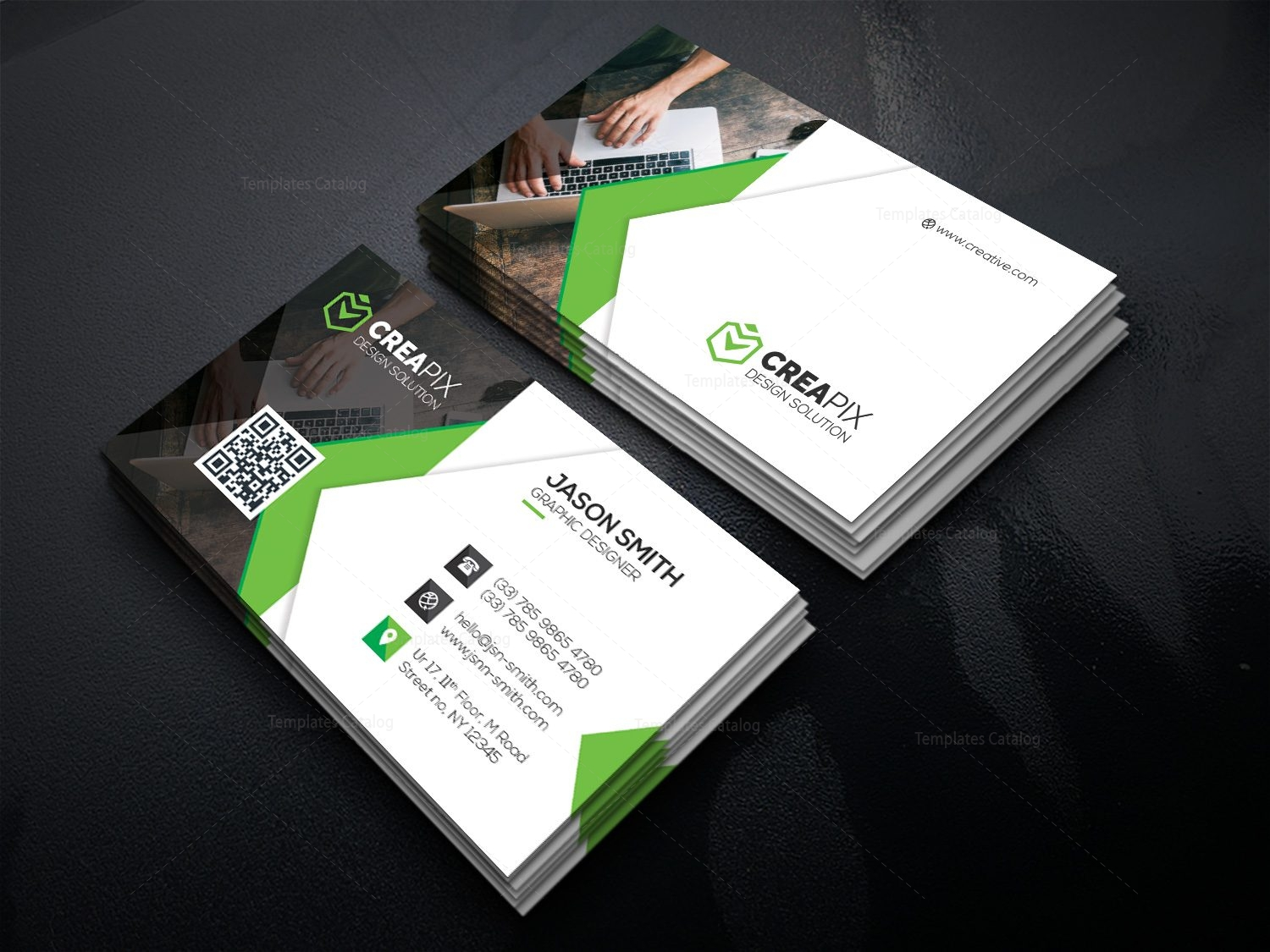 Personal business card template 000480 template catalog personal business card template 5 wajeb Gallery