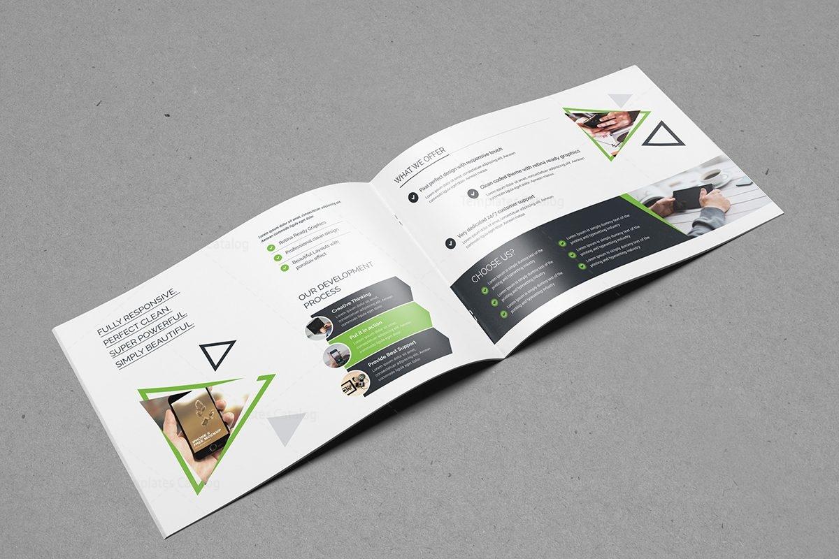 Plain Landscape Brochure Template 000558 - Template Catalog