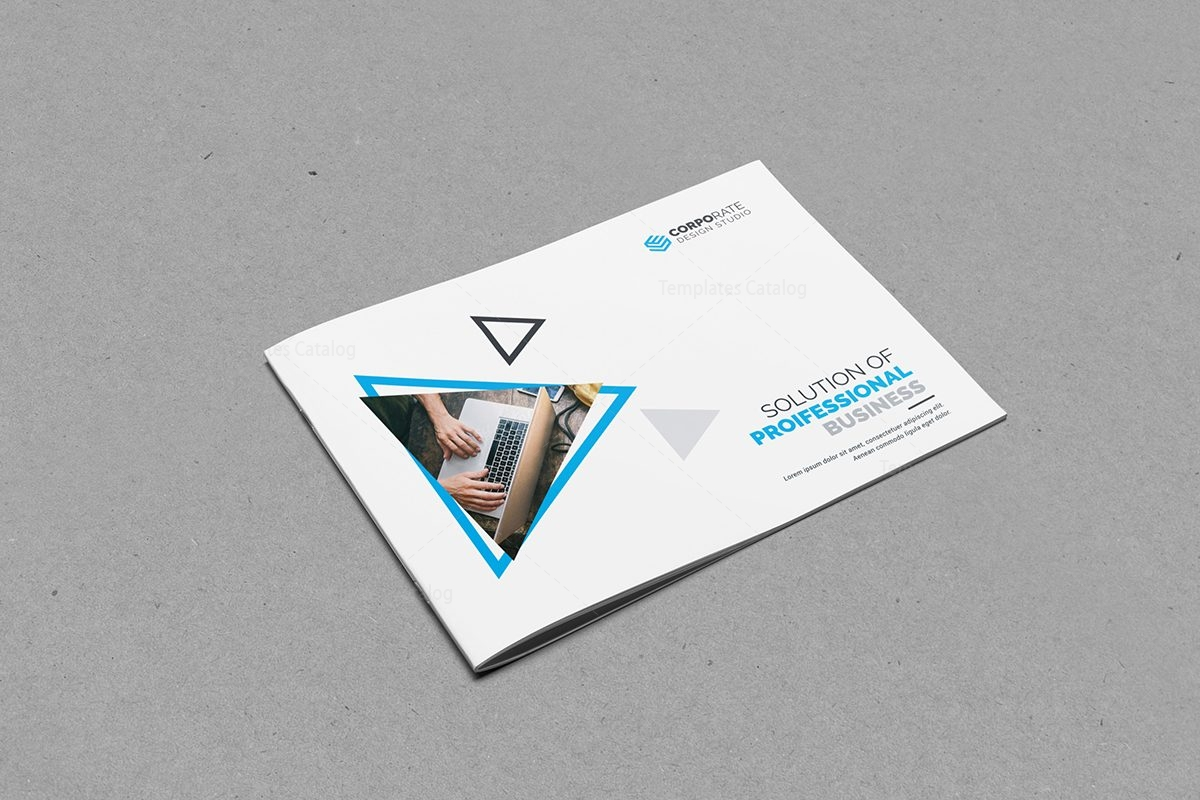 plain brochure template - plain landscape brochure template 7 template catalog