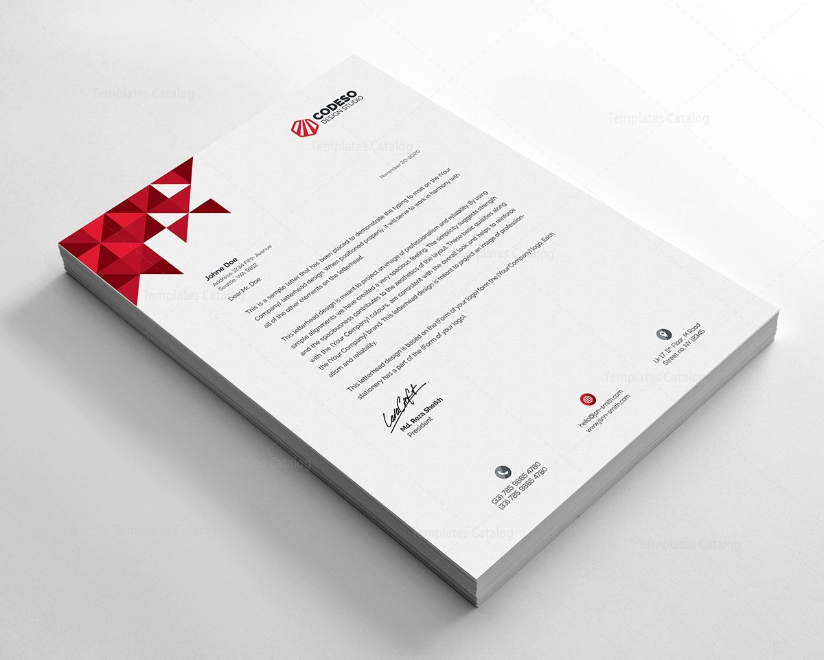 Premium Company Letterhead Template 4  Company Letterhead Templates