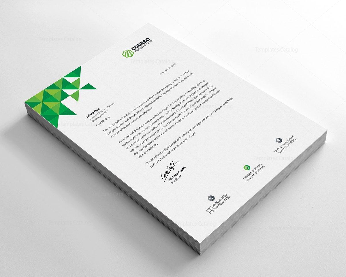 premium company letterhead template 000495 template catalog