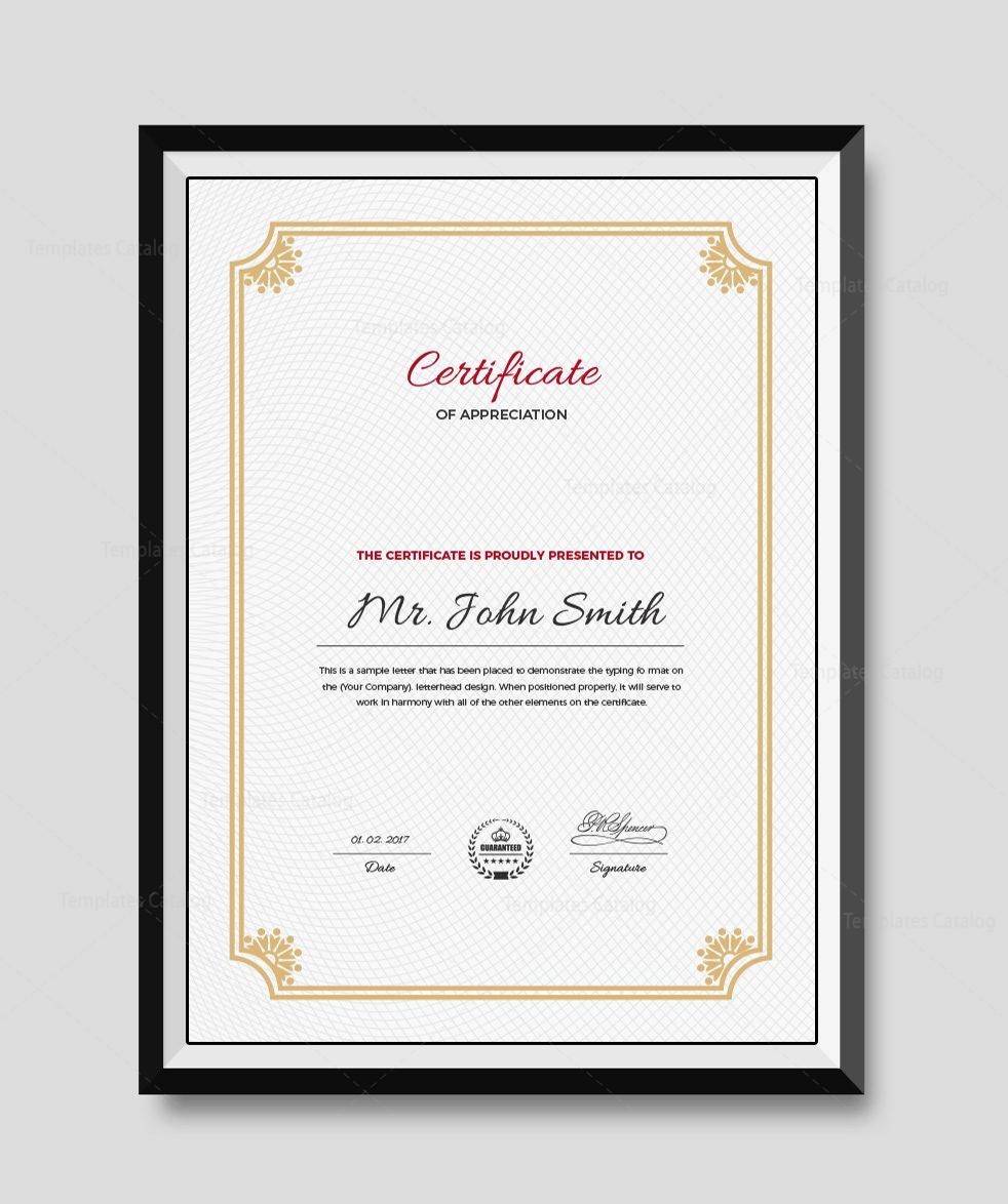 Premium Portrait Certificate Template 000509 - Template Catalog