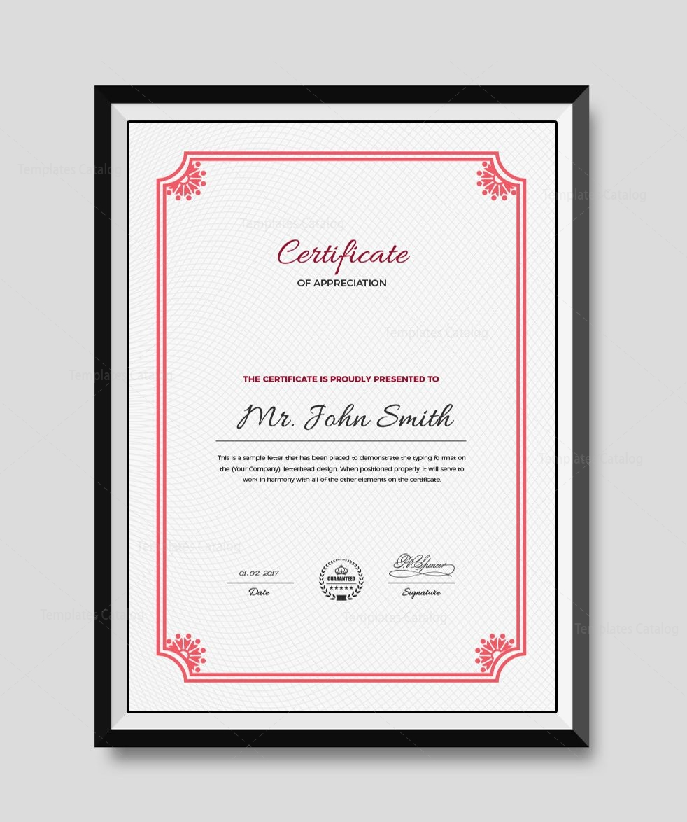 Premium portrait certificate template 000509 template for Certificate template word portrait
