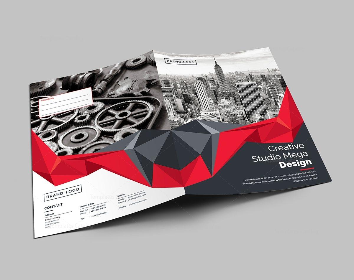 presentation folder template 000442 - template catalog, Presentation templates