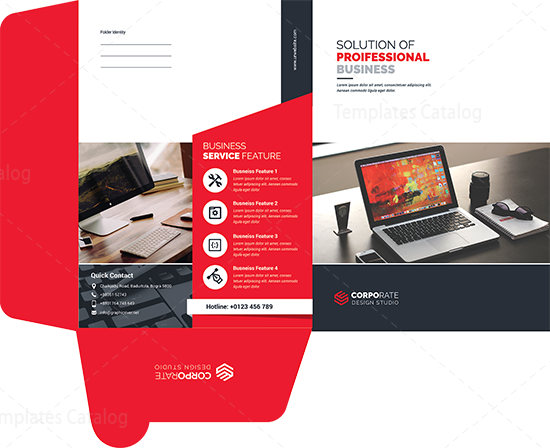 Presentation Folder Template With Classic Design 000565 Template