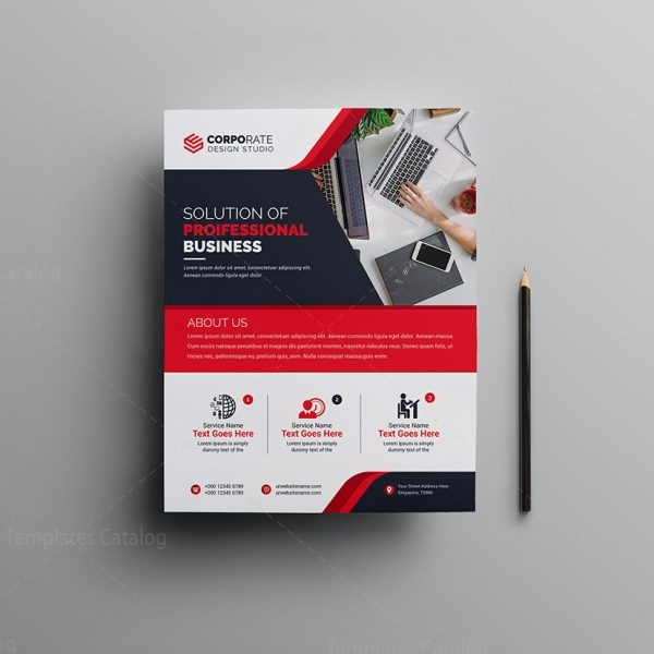 Pro Corporate Flyer Design Template 000596 Template Catalog