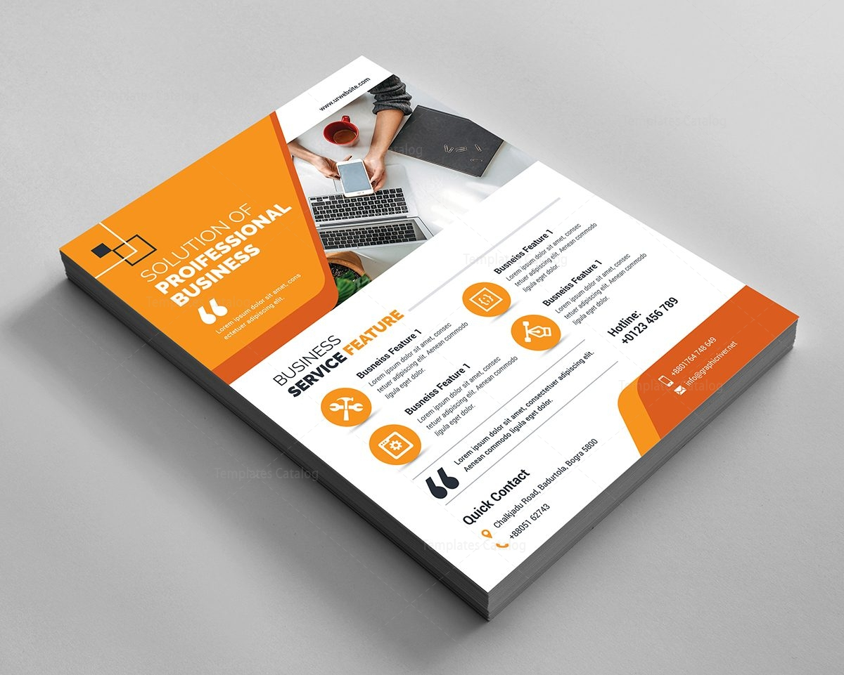 professional flyer design 000593 template catalog