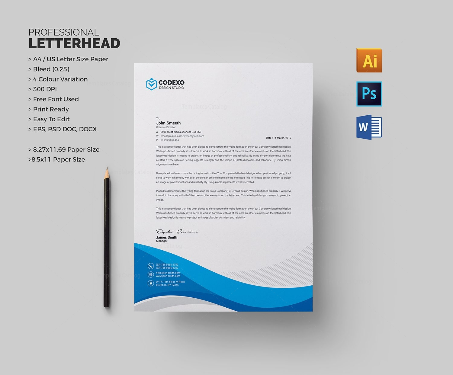 Professional Letterhead Sample 1  Company Letterhead Samples