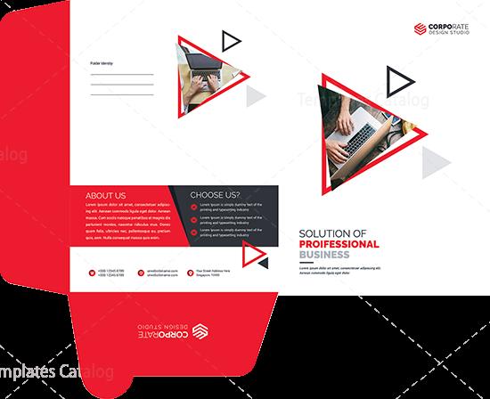 Professional Presentation Folder Design 000566 Template Catalog