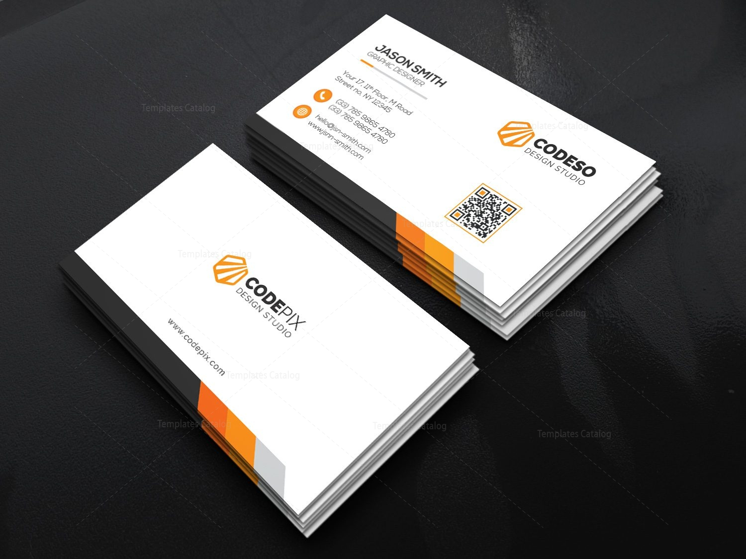 Simple Stylish Business Card 000524 - Template Catalog
