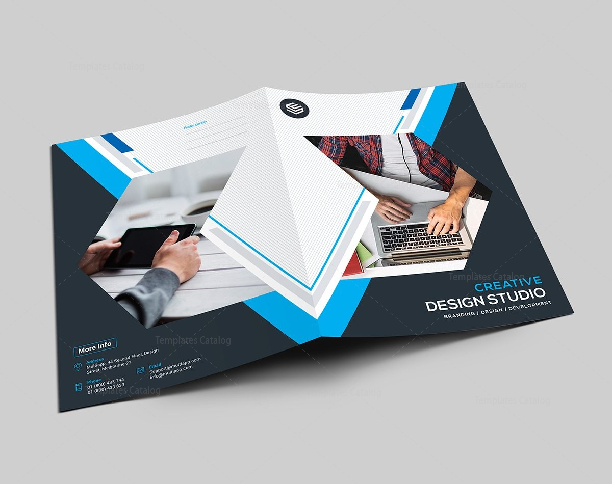 Stripe Presentation Folder Template Template Catalog - Brochure folder template