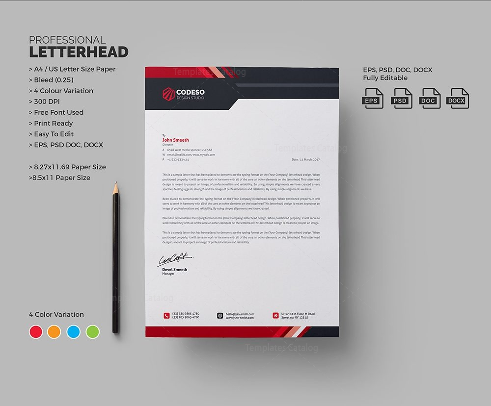 stylish business letterhead 000575 template catalog