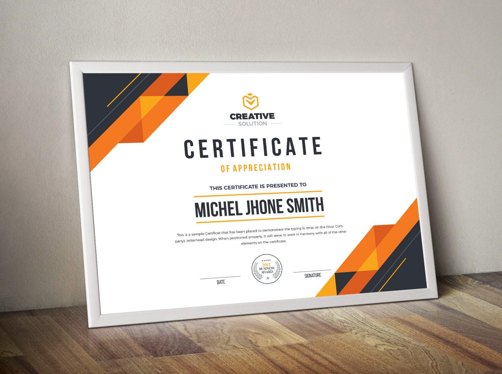 stylish premium certificate 000504