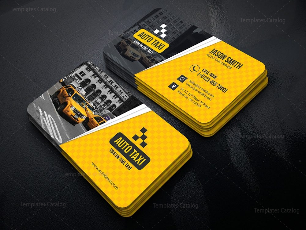 Taxi business card template 000479 template catalog for Taxi business card template