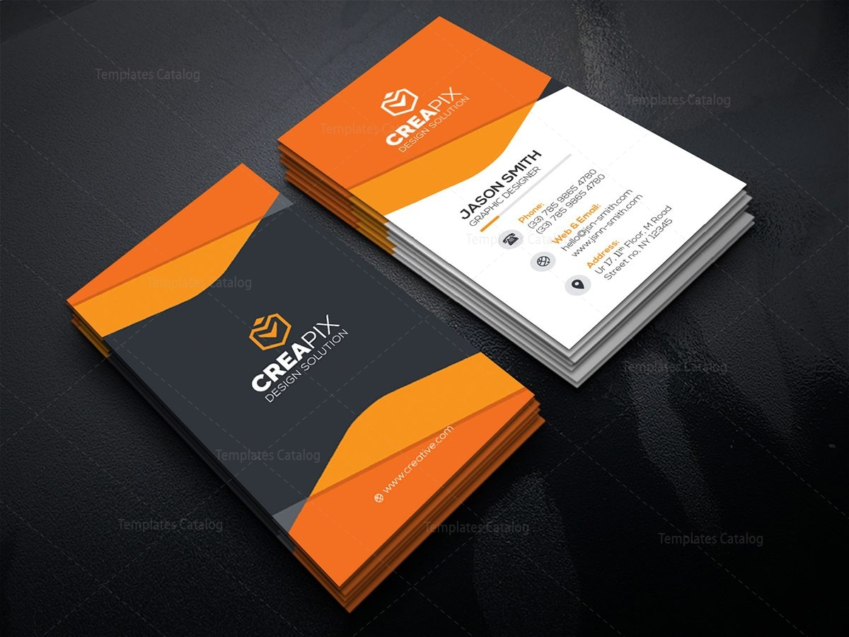 Vertical Business Card Mockup 4 - Template Catalog