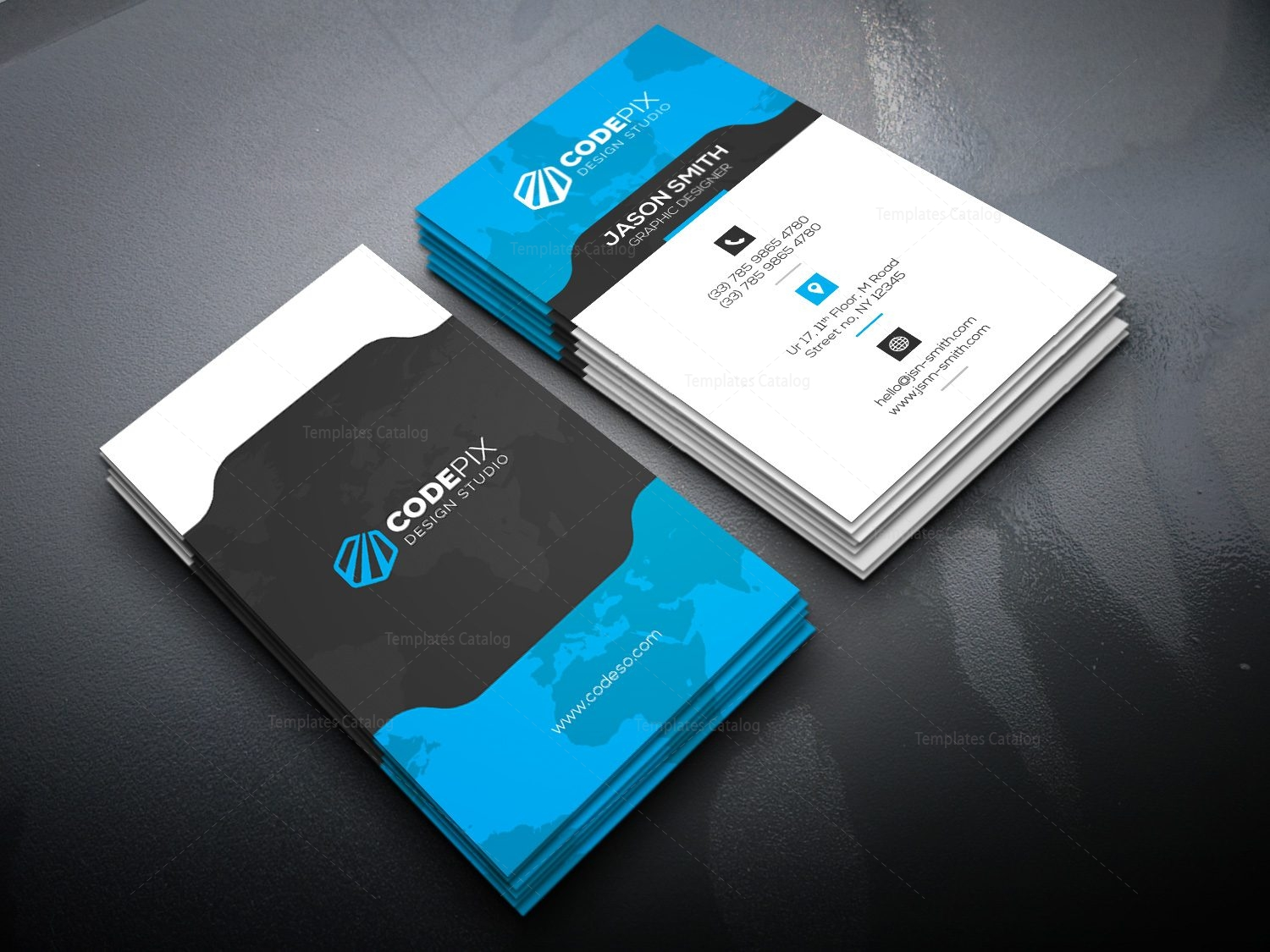 Vertical business card with stylish design 000521 template catalog vertical business card with stylish design 3 wajeb Image collections