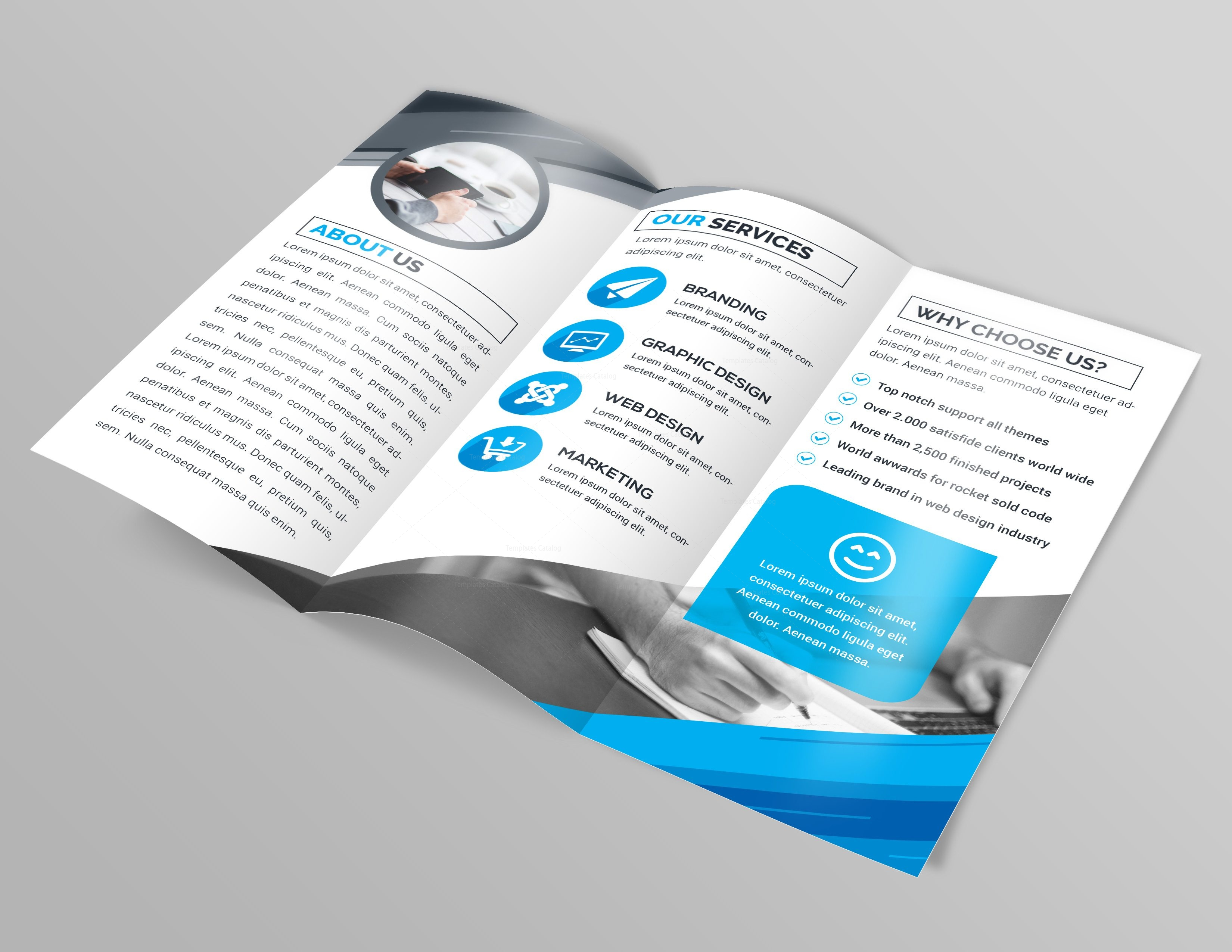 Apollo professional tri fold brochure template 000761 for Professional brochure design templates