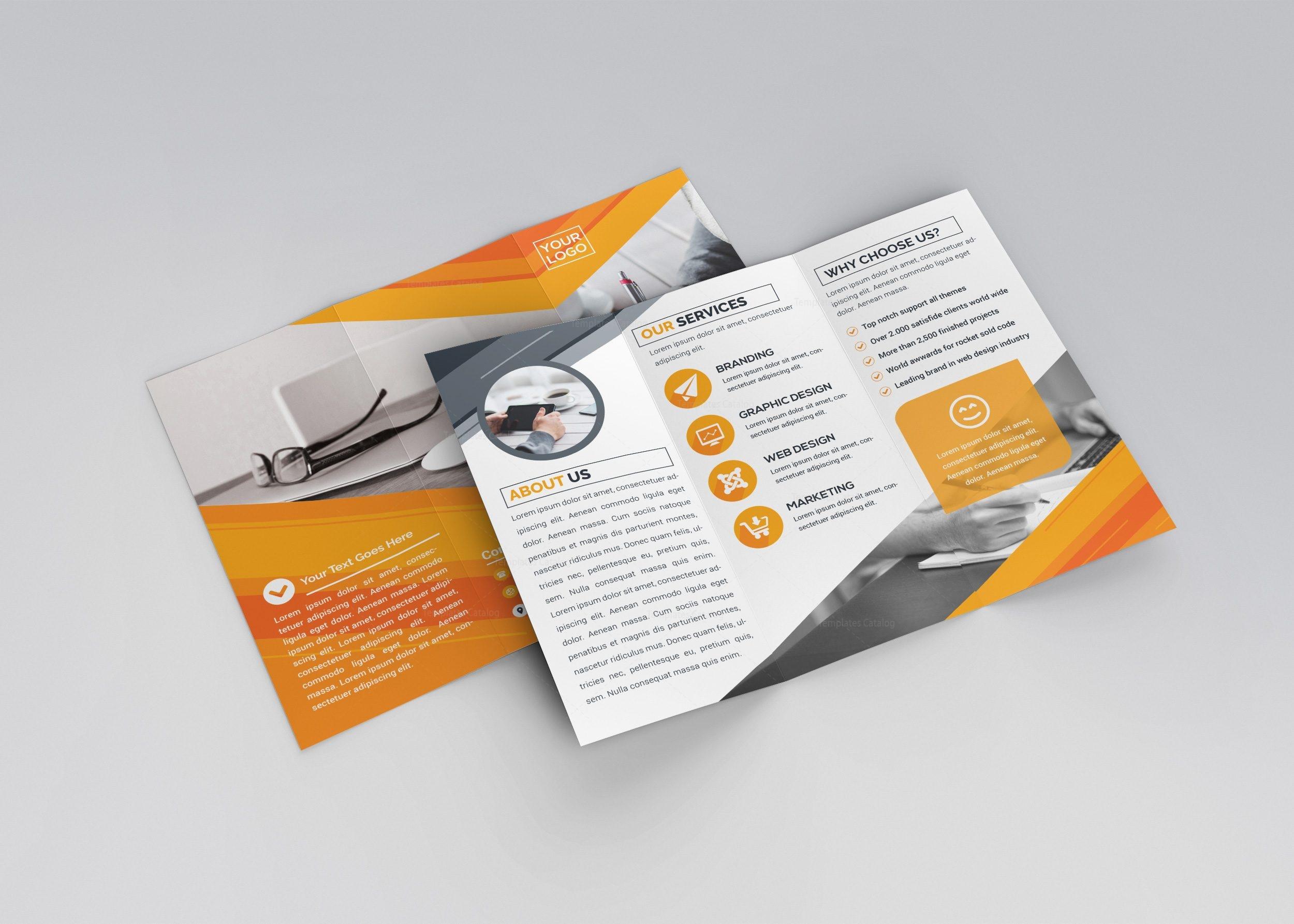 Apollo Professional TriFold Brochure Template Template Catalog - Professional brochure templates