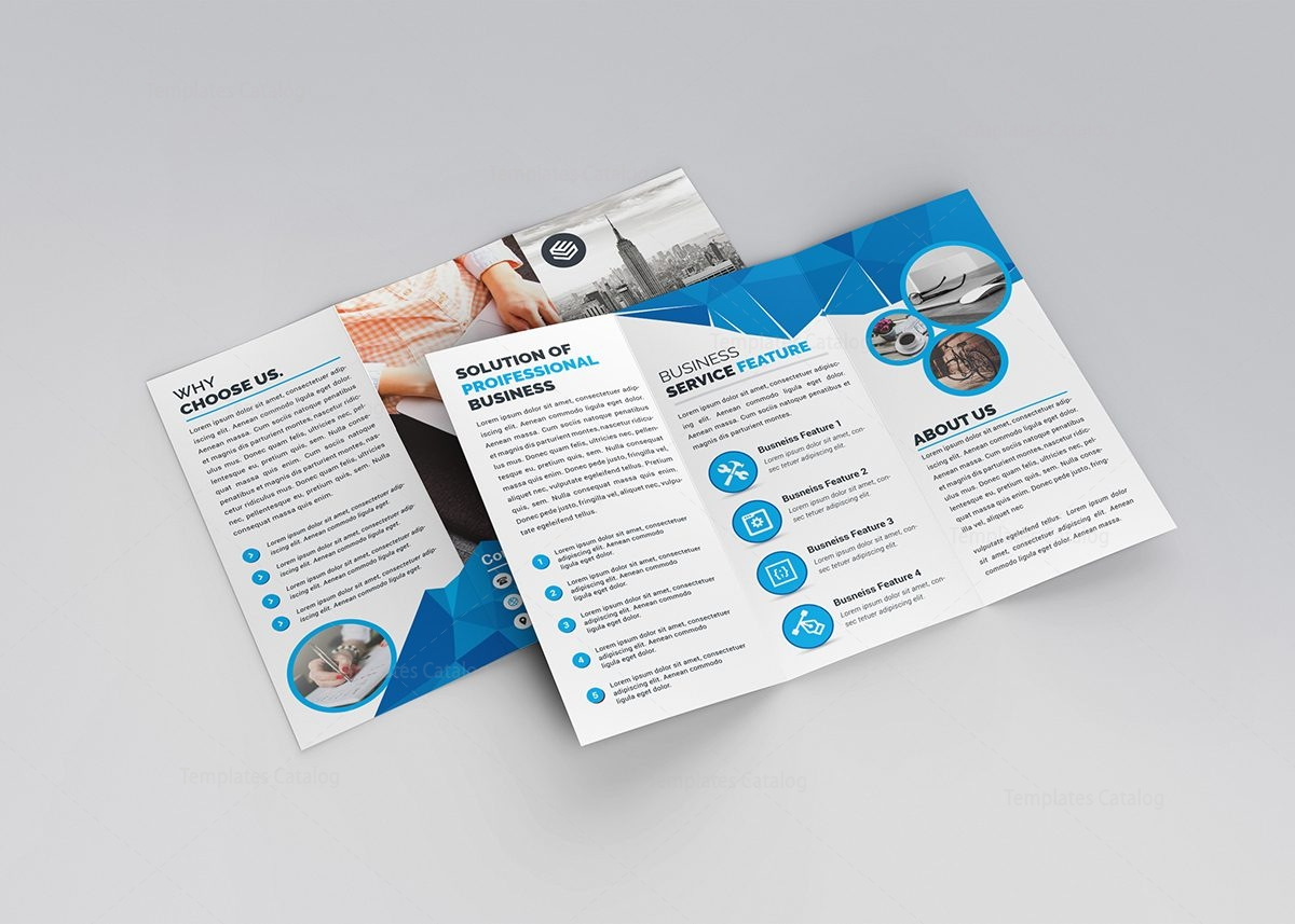 product brochure template free - athena modern tri fold brochure template 3 template catalog