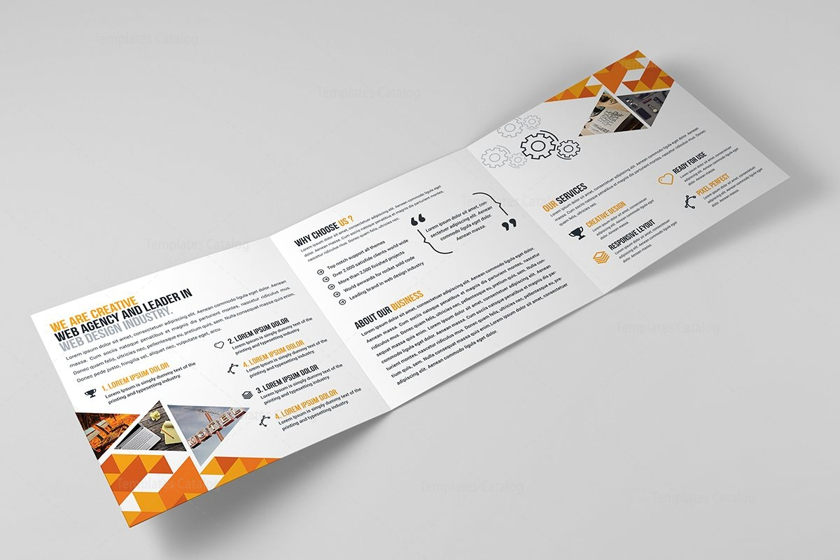 Atlas corporate tri fold brochure template 000669 for Corporate tri fold brochure template