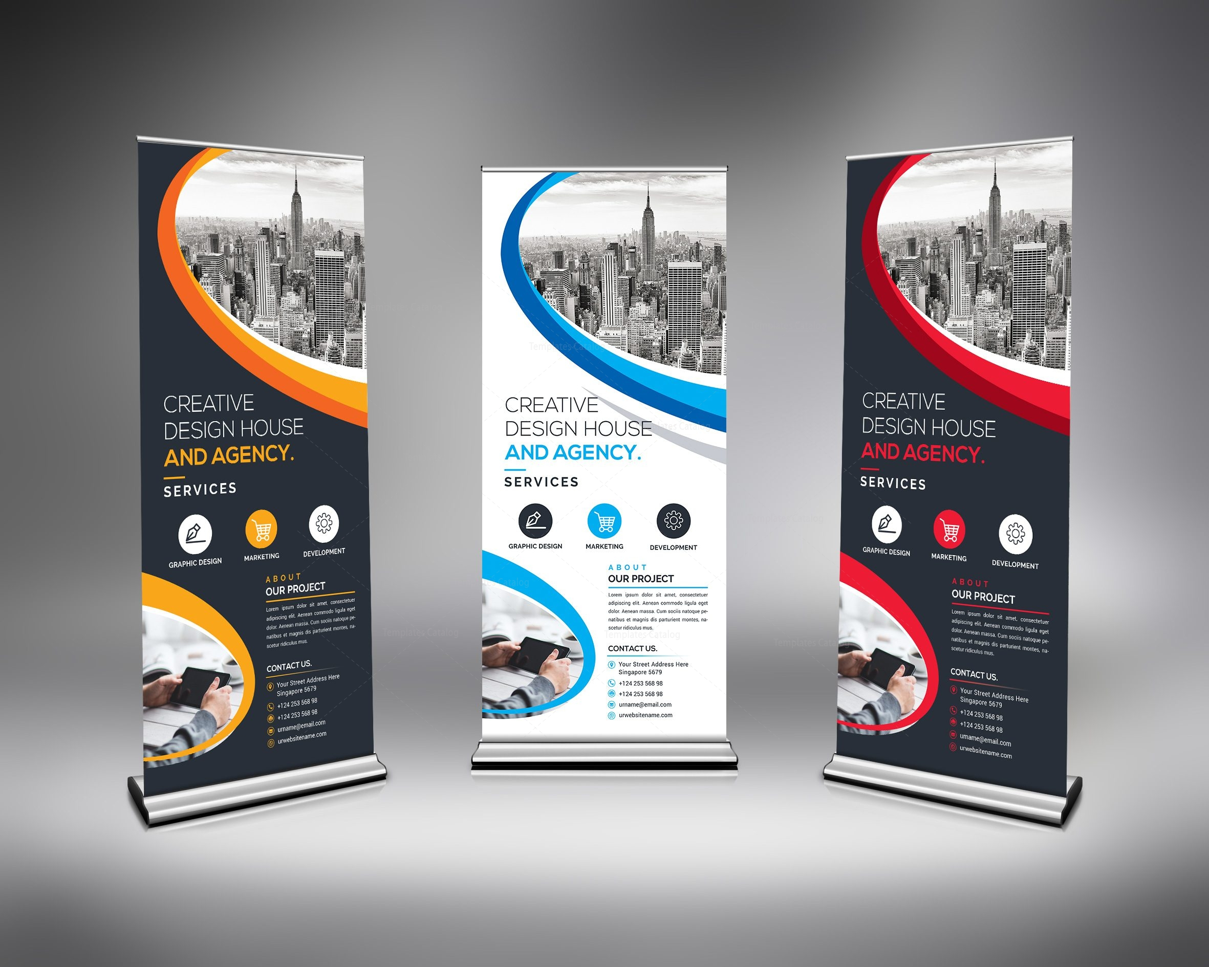 Best Roll-Up Banner Template 000633 - Template Catalog