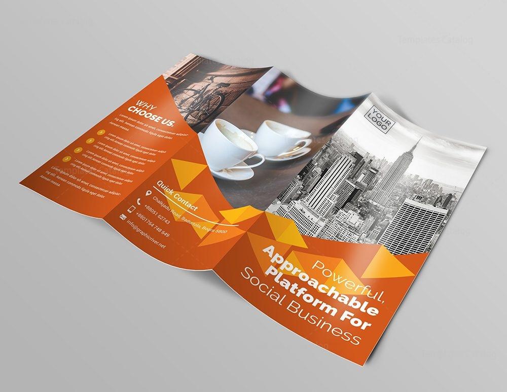 Business Premium Tri Fold Brochure Template 000745