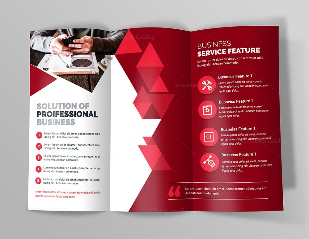 business premium trifold brochure template 000745