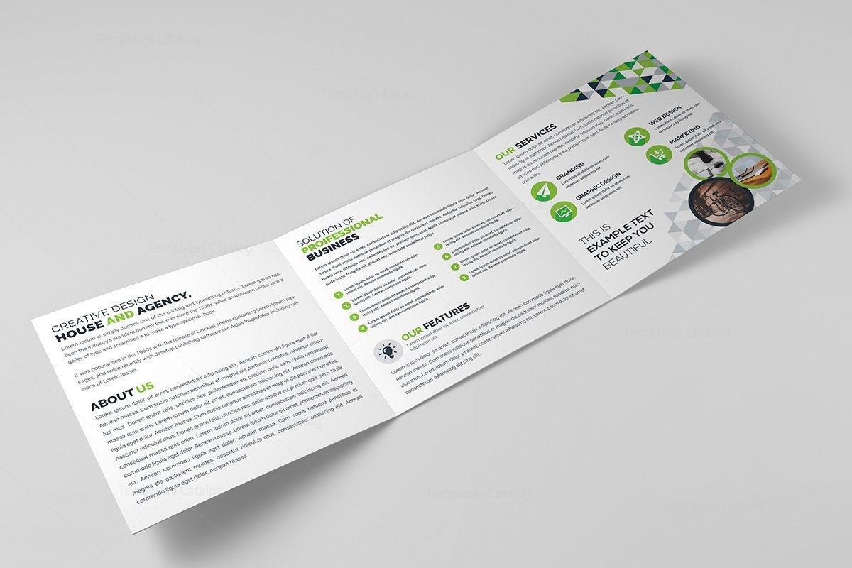 how to make a tri fold brochure