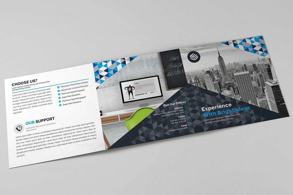 canopus corporate tri fold brochure design template 3