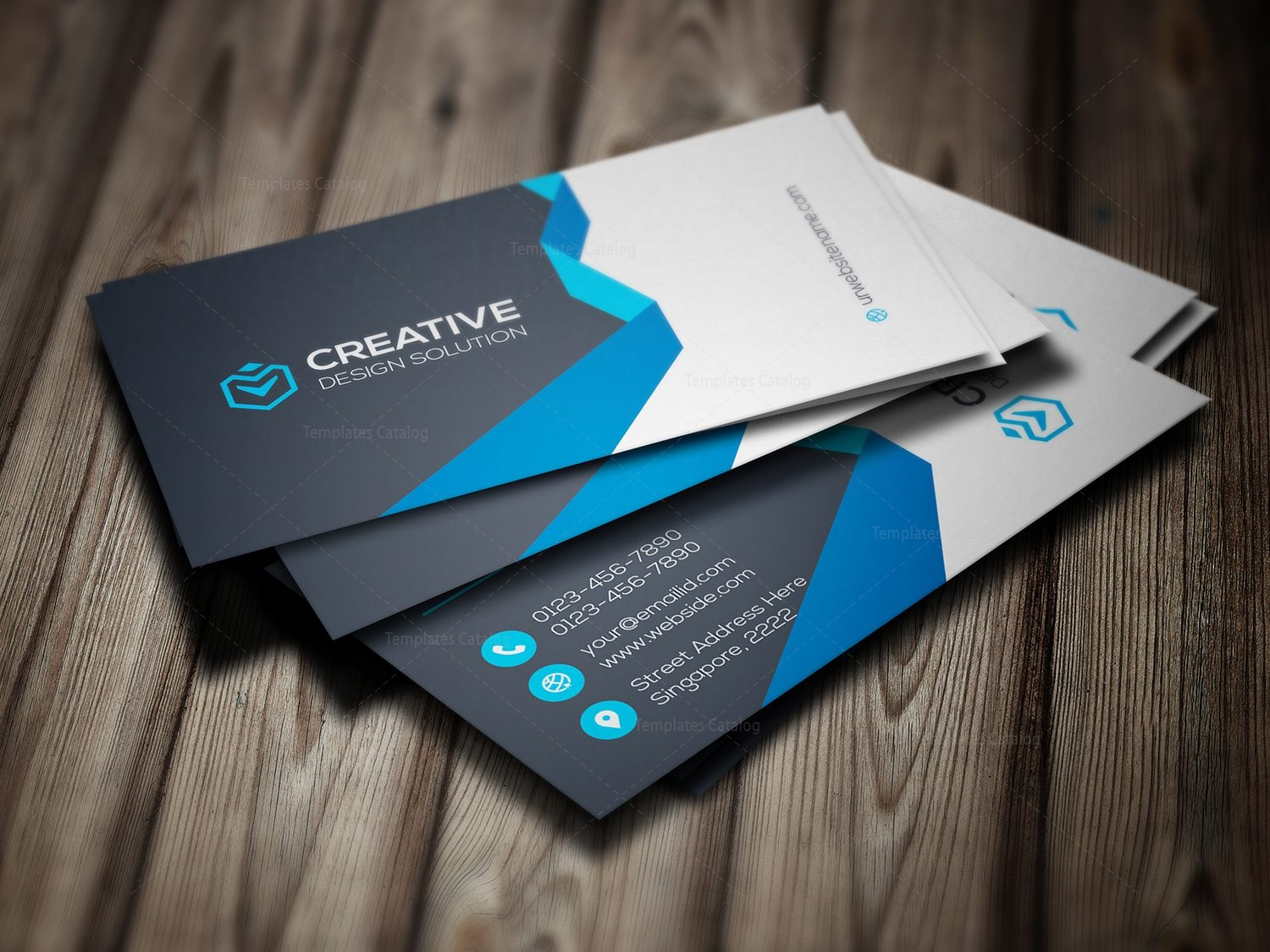 Chic modern business card template 000781 template catalog chic modern business card template 1 wajeb Images