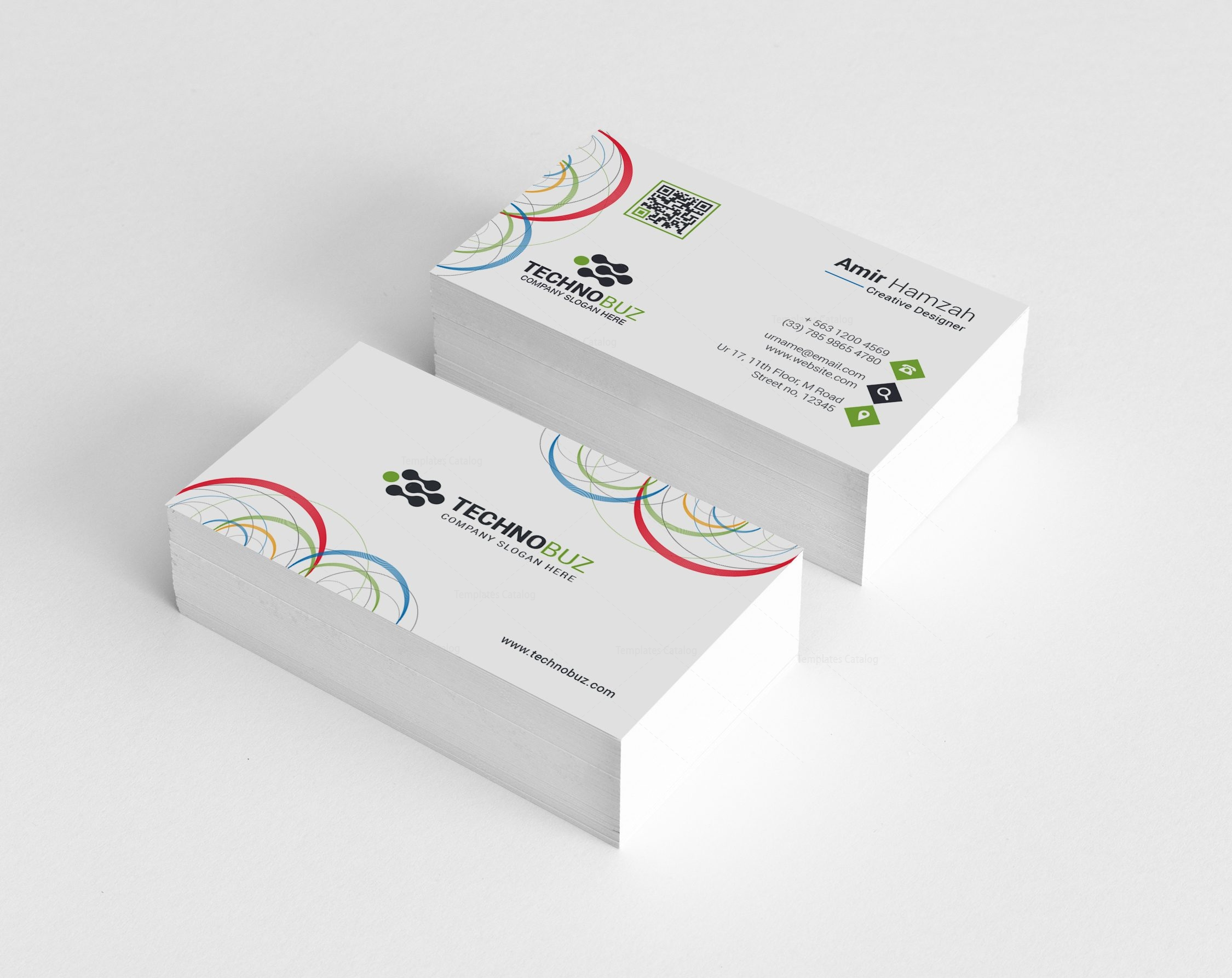 attractive business card box template vignette