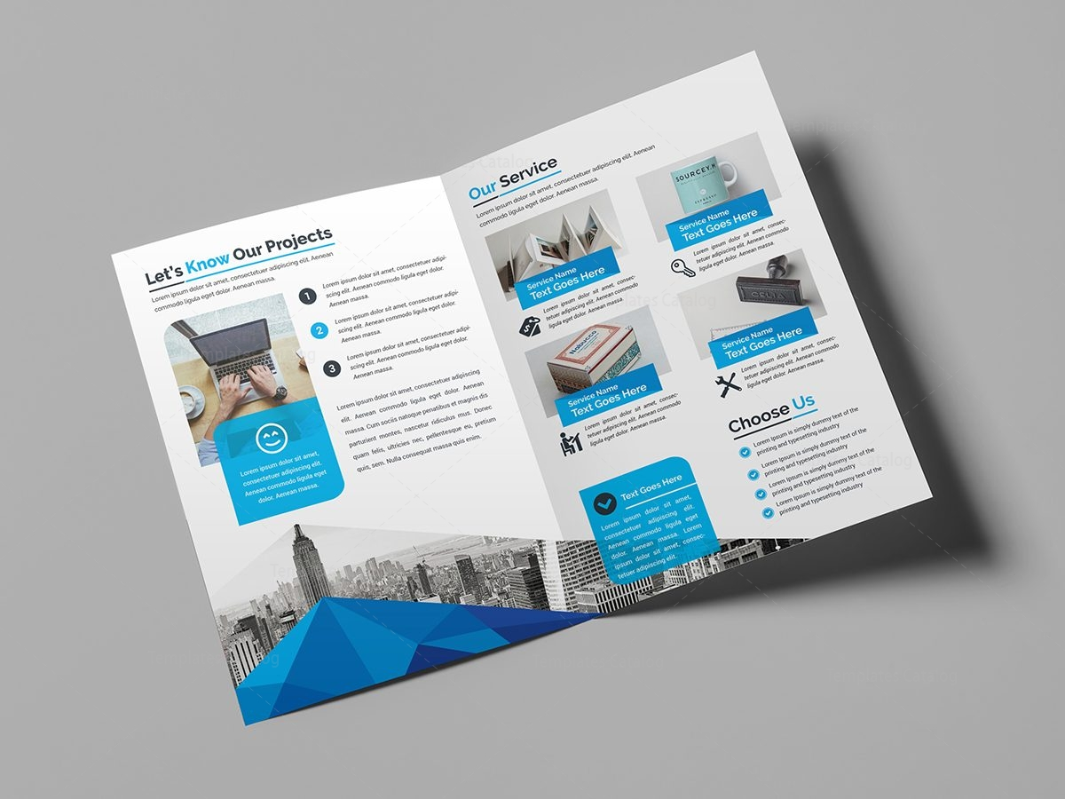 Classy bi fold brochure template 2 template catalog for Free bi fold brochure template 2